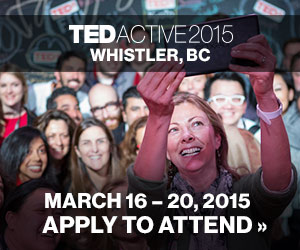 Apply to Attend TEDActive 2015