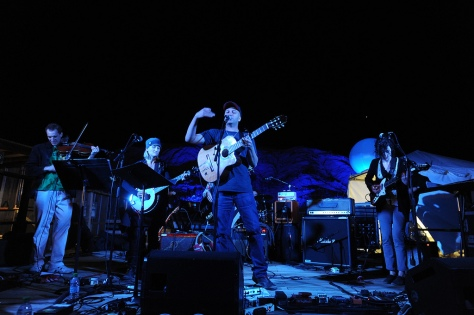 From right: Annie Clark (St. Vincent), Tom Morrello, Jill Sobule, perform at TEDActive 2011