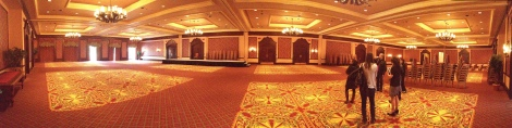 This may look like a ballroom now... but just wait until you see it next year..