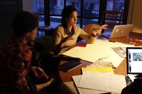 RISD students brainstorming away