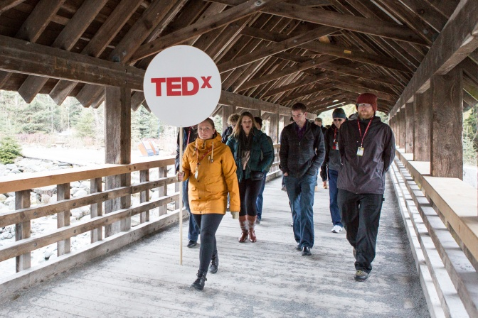 Walking to the TEDx Unconference